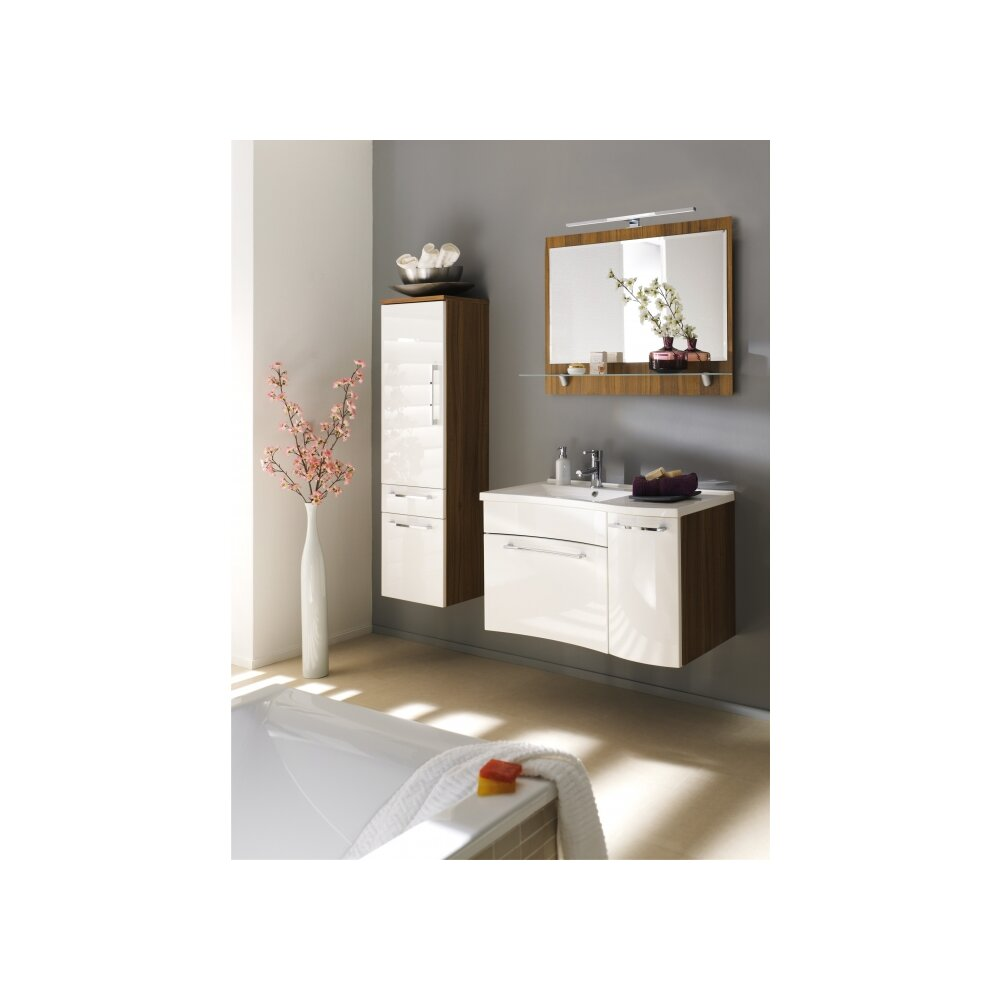 bad hochschrank bormio nuss wei g nstig online kaufen. Black Bedroom Furniture Sets. Home Design Ideas