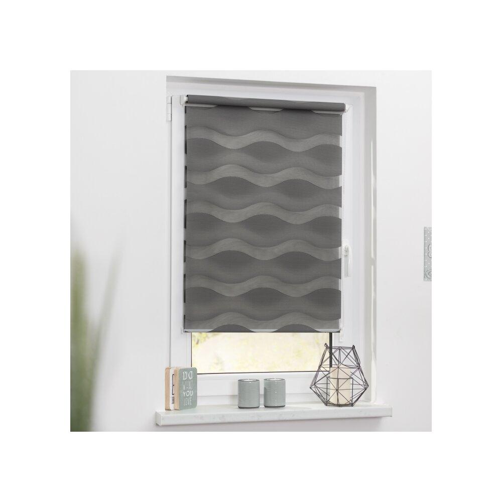 duorollo welle anthrazit 110x150 cm g nstig kaufen. Black Bedroom Furniture Sets. Home Design Ideas
