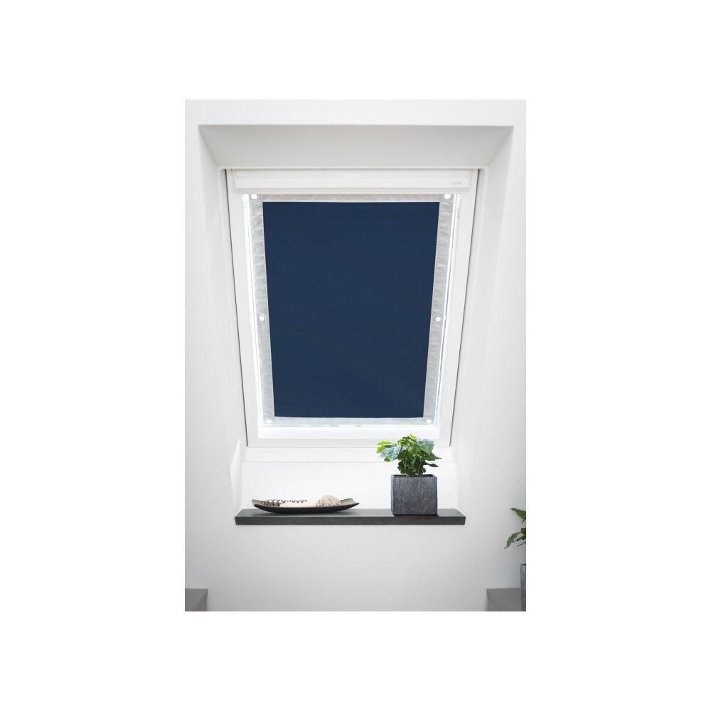 Dachfenster sonnenschutz blau 36x51 5 verdunklung for Dachfenster rollo ohne bohren
