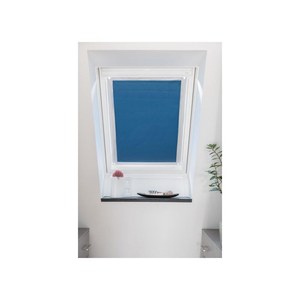 dachfenster sonnenschutz blau 94x96 9 cm. Black Bedroom Furniture Sets. Home Design Ideas