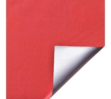 LIEDECO Klemmfix-Rollo Verdunklung mit Thermobeschichtung 080 x 150cm Fb. rot inkl. Klemmträger