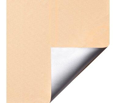 LIEDECO Klemmfix-Rollo Verdunklung mit Thermobeschichtung 080 x 150cm Fb. apricot inkl. Klemmträger