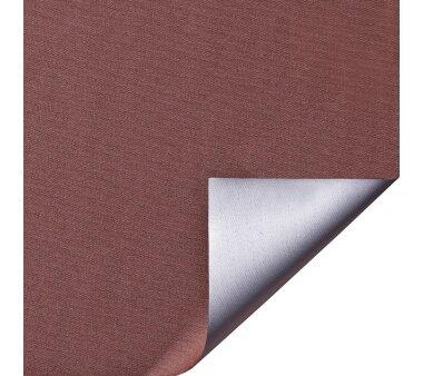 LIEDECO Klemmfix-Rollo Verdunklung mit Thermobeschichtung 080 x 150cm Fb. braun inkl. Klemmträger