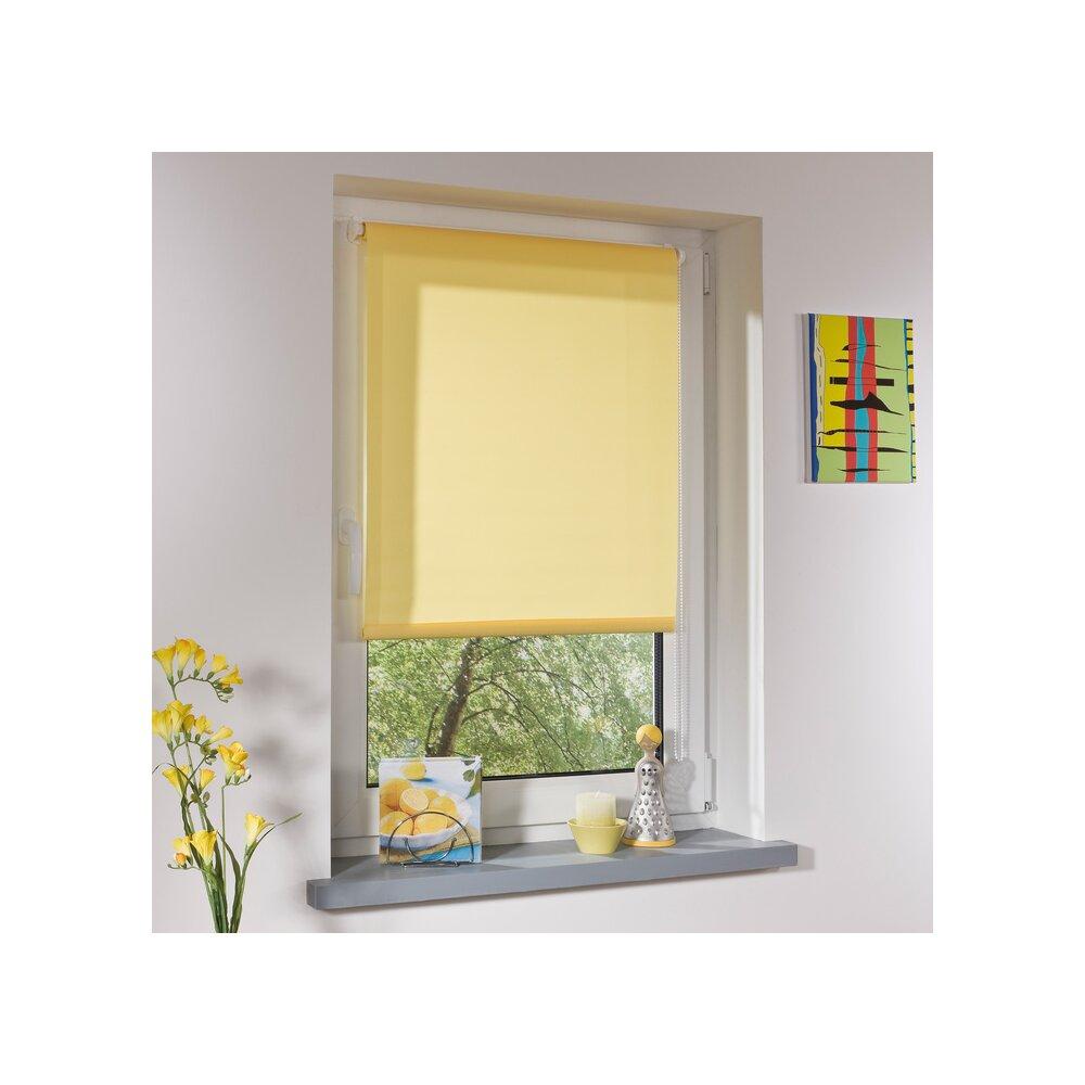 rollo klemmfix rollo gelb 60x150 cm von liedeco. Black Bedroom Furniture Sets. Home Design Ideas