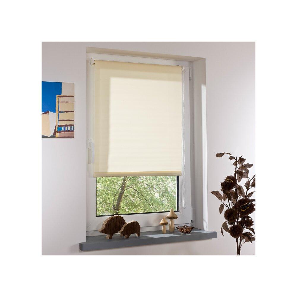 rollo klemmfix rollo creme 100x150 cm liedeco. Black Bedroom Furniture Sets. Home Design Ideas