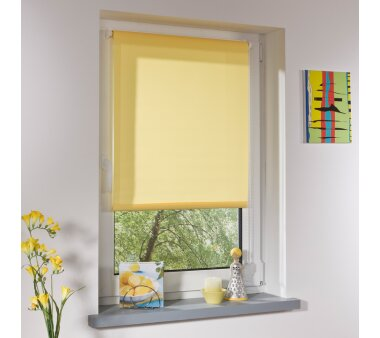 LIEDECO Klemmfix-Rollo Lichtdurchlässig 100 x 150cm Fb. gelb inkl. Klemmträger