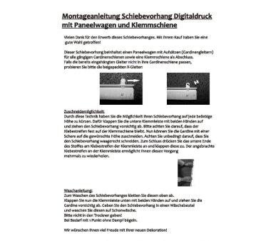 Schiebevorhang Deko blickdicht FRANZI Größe BxH 60x245 cm, natur