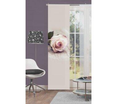 Schiebevorhang Deko blickdicht LUCIA Größe BxH 60x245 cm, rose