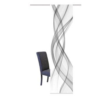 Schiebevorhang Deko blickdicht Mariella Größe BxH 60x245 cm, grau