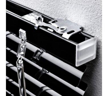 LIEDECO Jalousie aus Aluminium 080 x 220 cm schwarz