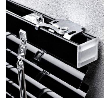 LIEDECO Jalousie aus Aluminium 090 x 220 cm schwarz