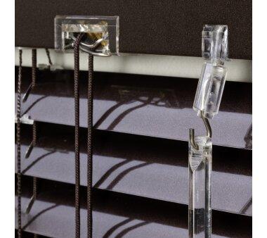 LIEDECO Jalousie aus Aluminium 100 x 160 cm braun