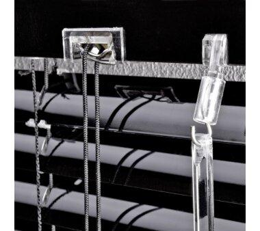 LIEDECO Jalousie aus Aluminium 100 x 220 cm schwarz