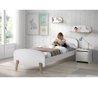 Vipack Einzelbett Kiddy, 90 x 200 cm, weiß