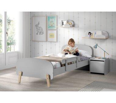 Vipack Absturzschutz für Einzelbett Kiddy, hellgrau