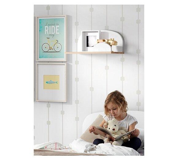 wandregal kiddy wei breite 45 cm von vipack kaufen. Black Bedroom Furniture Sets. Home Design Ideas