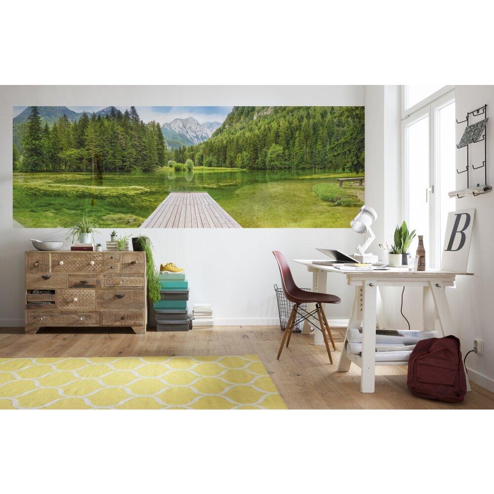 fototapete green lake von komar kaufen. Black Bedroom Furniture Sets. Home Design Ideas
