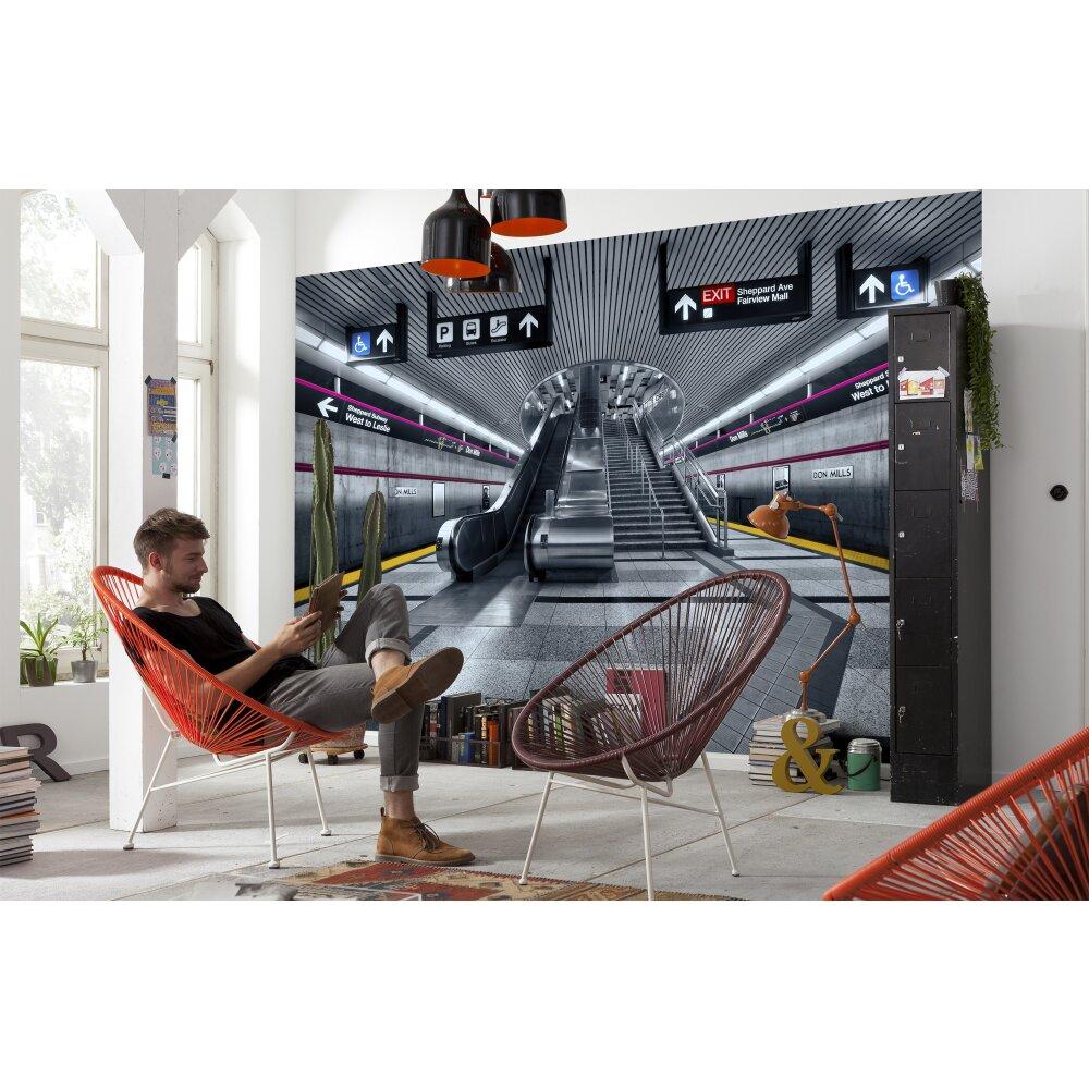 fototapete subway von komar kaufen. Black Bedroom Furniture Sets. Home Design Ideas