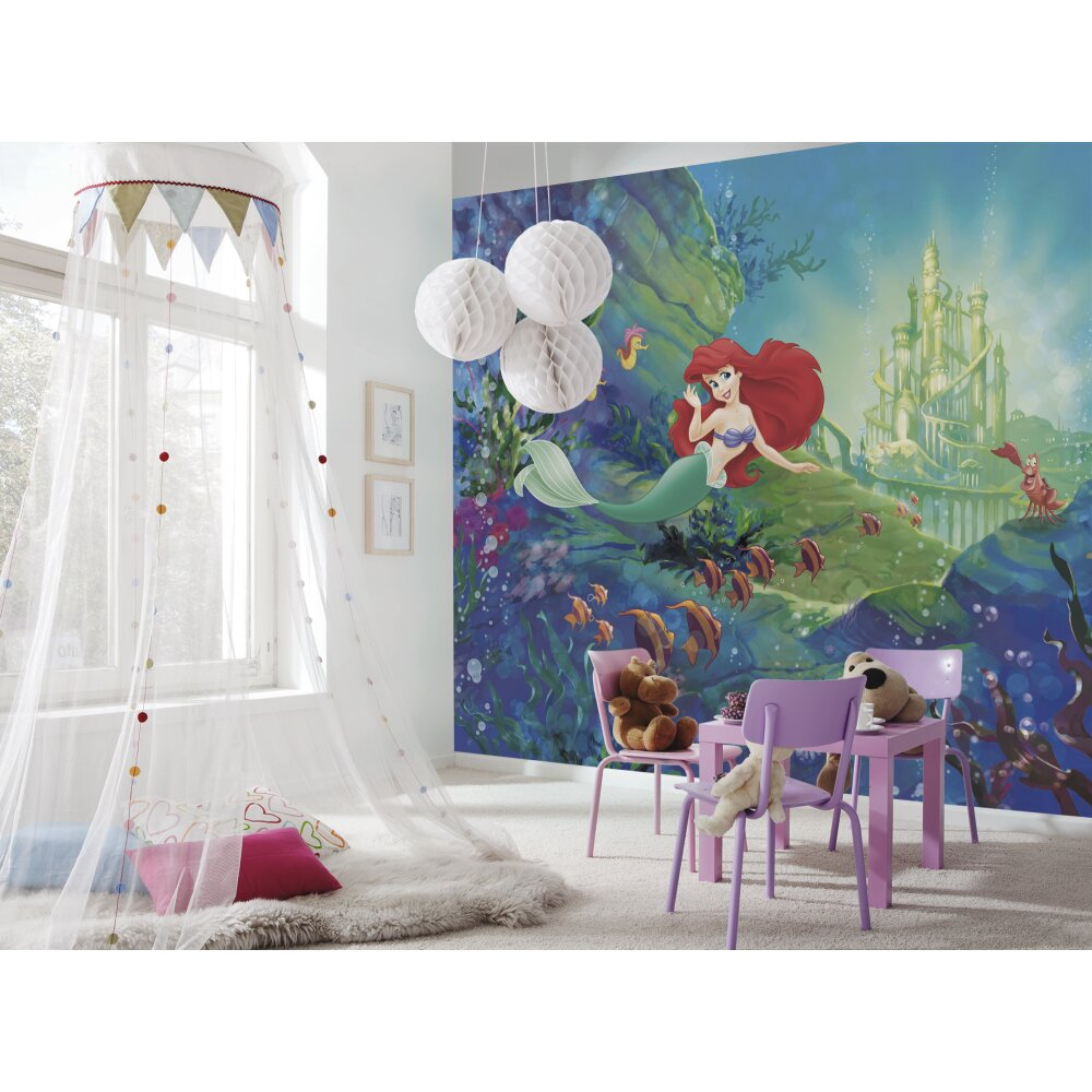 fototapete ariels castle von komar kaufen. Black Bedroom Furniture Sets. Home Design Ideas