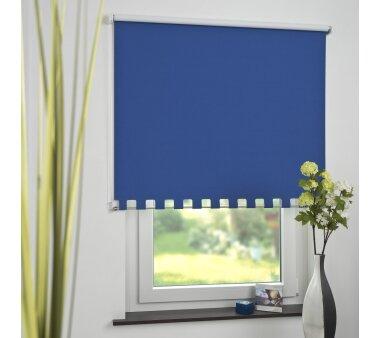 LIEDECO Volantrollo eckig, Uni-Verdunklung, blau