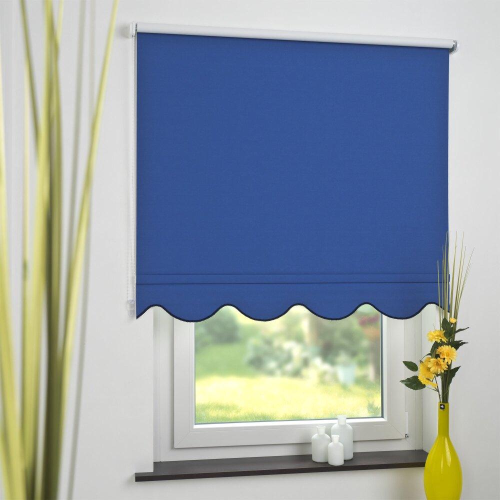 Rollo, Volantrollo klassisch, verdunkelnd, blau - kaufen