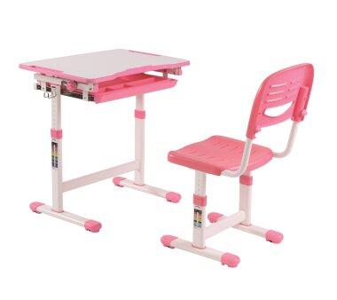 Vipack Schreibitsch-Set  COMFORTLINE 201, Farbe rosa