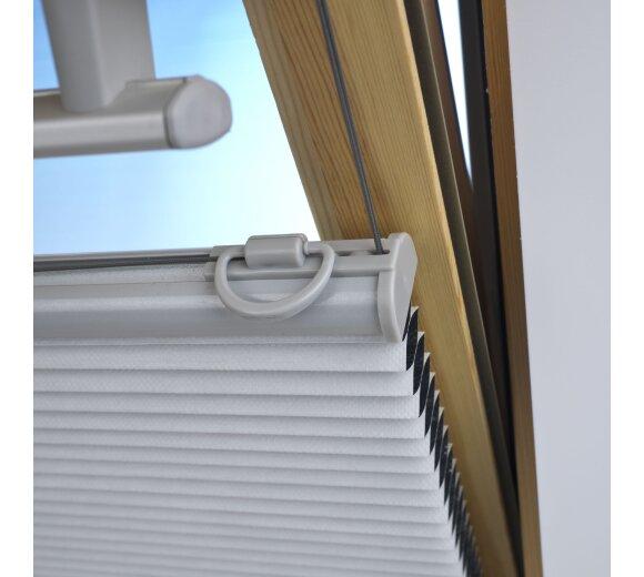 liedeco plissee dachfenster plissee wei wohnfuehlidee. Black Bedroom Furniture Sets. Home Design Ideas