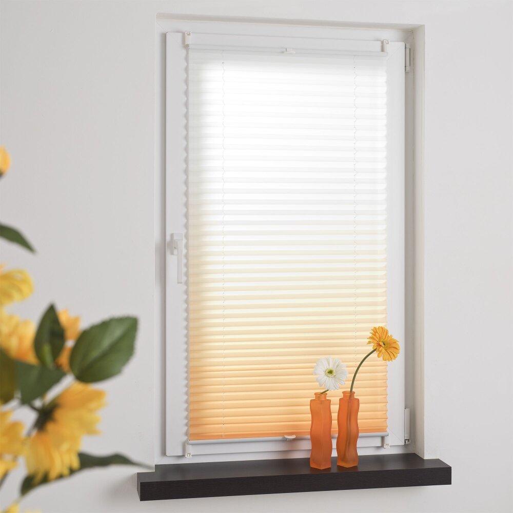 liedeco plissee farbverlauf orange bei wohnfuehlidee. Black Bedroom Furniture Sets. Home Design Ideas