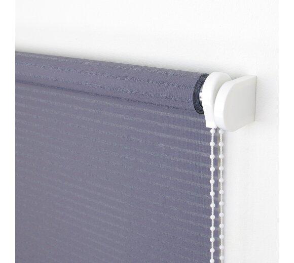 dekor ma rollo seitenzug streifen grau lichtdurchl wohnfuehlidee. Black Bedroom Furniture Sets. Home Design Ideas