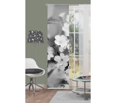 Schiebevorhang Deko blickdicht Marion, Farbe grau,...