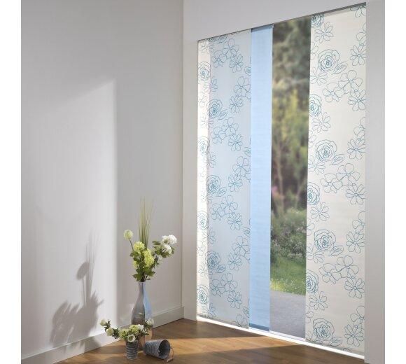 schiebevorhang set angelina uni bl te blau 160cm kaufen. Black Bedroom Furniture Sets. Home Design Ideas
