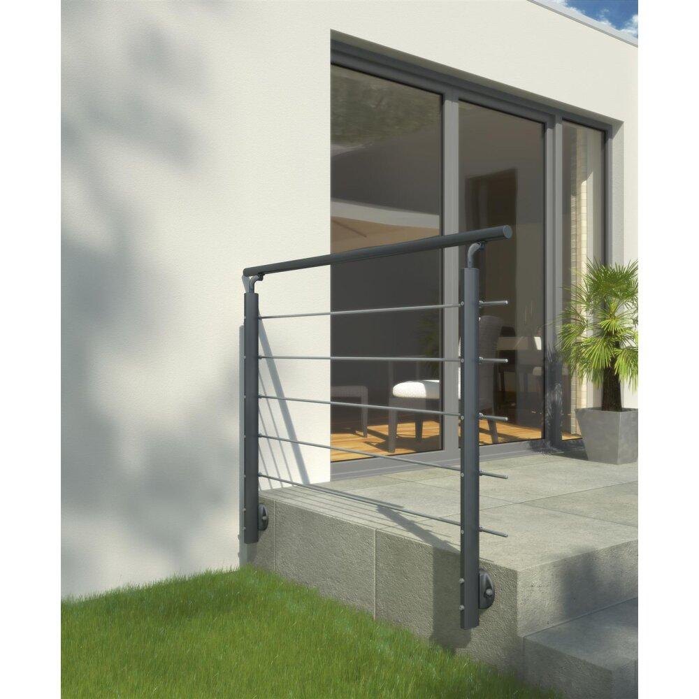 dolle gel nder set alu edelstahl anthrazit f r wandmontage. Black Bedroom Furniture Sets. Home Design Ideas