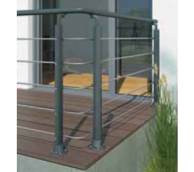 DOLLE Eckverbinder Set für Geländerset anthrazit