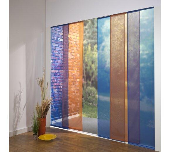 schiebevorhang set ariane blau terra 260 cm kaufen. Black Bedroom Furniture Sets. Home Design Ideas