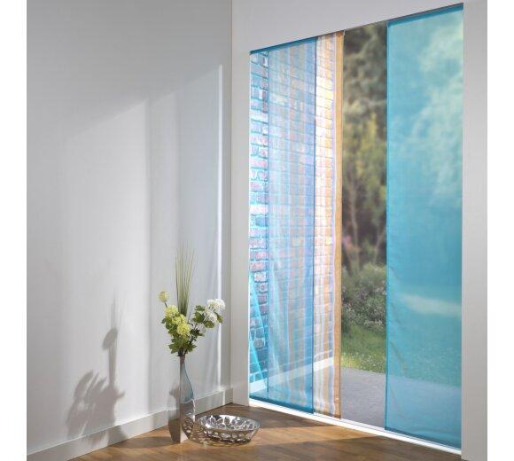 schiebevorhang set 3 schiene chiara orange farbig 160cm. Black Bedroom Furniture Sets. Home Design Ideas
