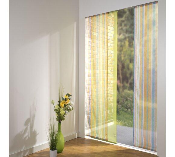 schiebevorhang set 3 schiene chiara farbig gr n 160 cm. Black Bedroom Furniture Sets. Home Design Ideas