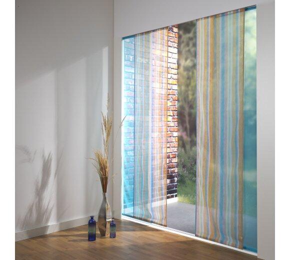 schiebevorhang set 4 schiene chiara farbig pink 210 cm. Black Bedroom Furniture Sets. Home Design Ideas