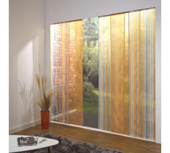 schiebevorhang set 5 schiene chiara orange farbig 260cm. Black Bedroom Furniture Sets. Home Design Ideas