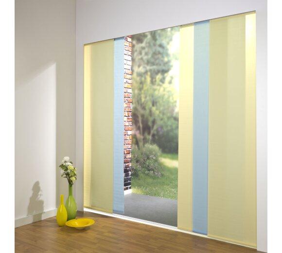 Fabulous Schiebevorhang Set 5+Schiene Dalina cerme/blau, 260 cm AM08