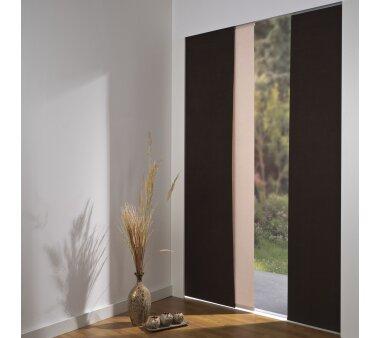 schiebevorhang 3er set deckenschiene daphne braun kaufen. Black Bedroom Furniture Sets. Home Design Ideas