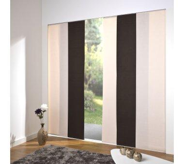 schiebevorhang set 5 schiene daphne dunkelbraun 260 cm. Black Bedroom Furniture Sets. Home Design Ideas