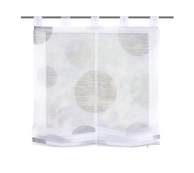 Voile-Raffrollo  NADJA, mit Schlaufen, transparent, Farbe...