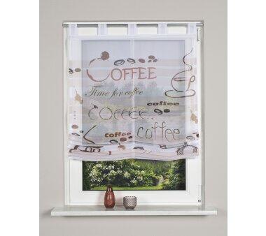 Voile-Raffrollo  LISKA, mit Schlaufen, transparent, Farbe...