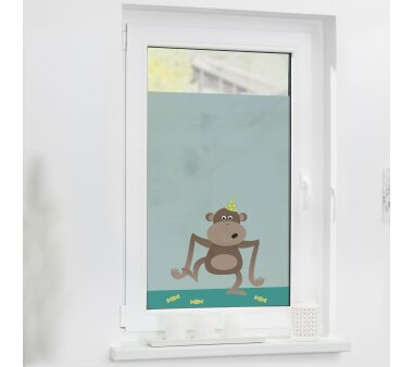 Lichtblick Fensterfolie selbstklebend, Sichtschutz, Affe...