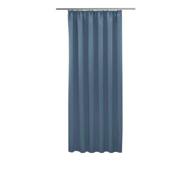Verdunklungs-Schal Blackout mit U-Band uni, Farbe hellblau