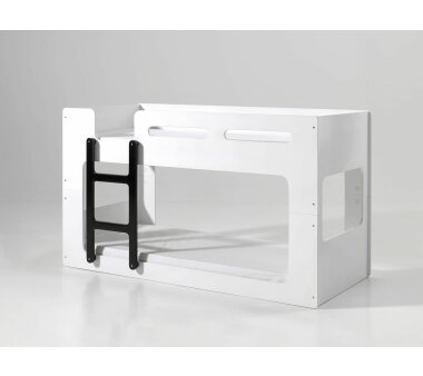 Vipack Hoch- und Spielbett Lucca, 90 x 200 cm, weiß