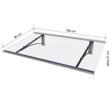 Gutta Pultvordach Typ PT/GR gerade (7200533), 160 cm, Edelstahloptik