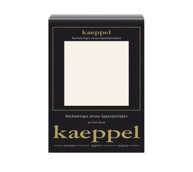 Kaeppel Jersey Spannbettlaken Fb. perlmutt Gr. 140-160 x...