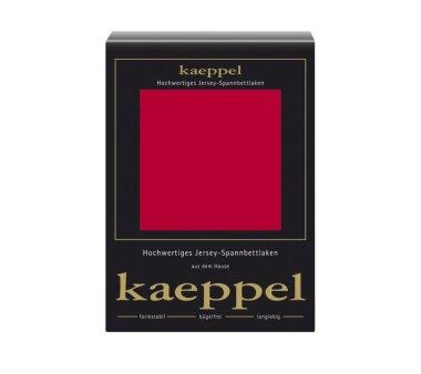 Kaeppel Jersey Spannbettlaken Fb. rot Gr. 140-160 x 200 cm