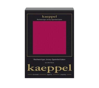 Kaeppel Jersey Spannbettlaken Fb. rubin Gr. 100 x 200 cm